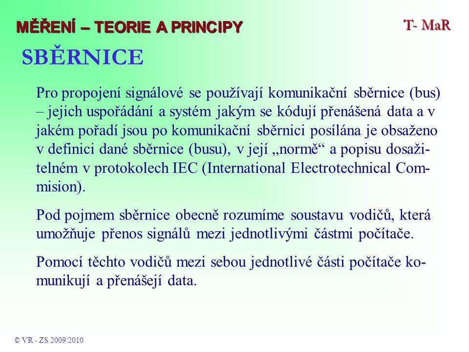 """SBĚRNICE Pro propojení signálové se používají komunikační sběrnice (bus) – jejich uspořádání a systém jakým se kódují přenášená data a v jakém pořadí jsou po komunikační sběrnici posílána je obsaženo v definici dané sběrnice (busu), v její """"normě a popisu dosaži- telném v protokolech IEC (International Electrotechnical Com- mision)."""