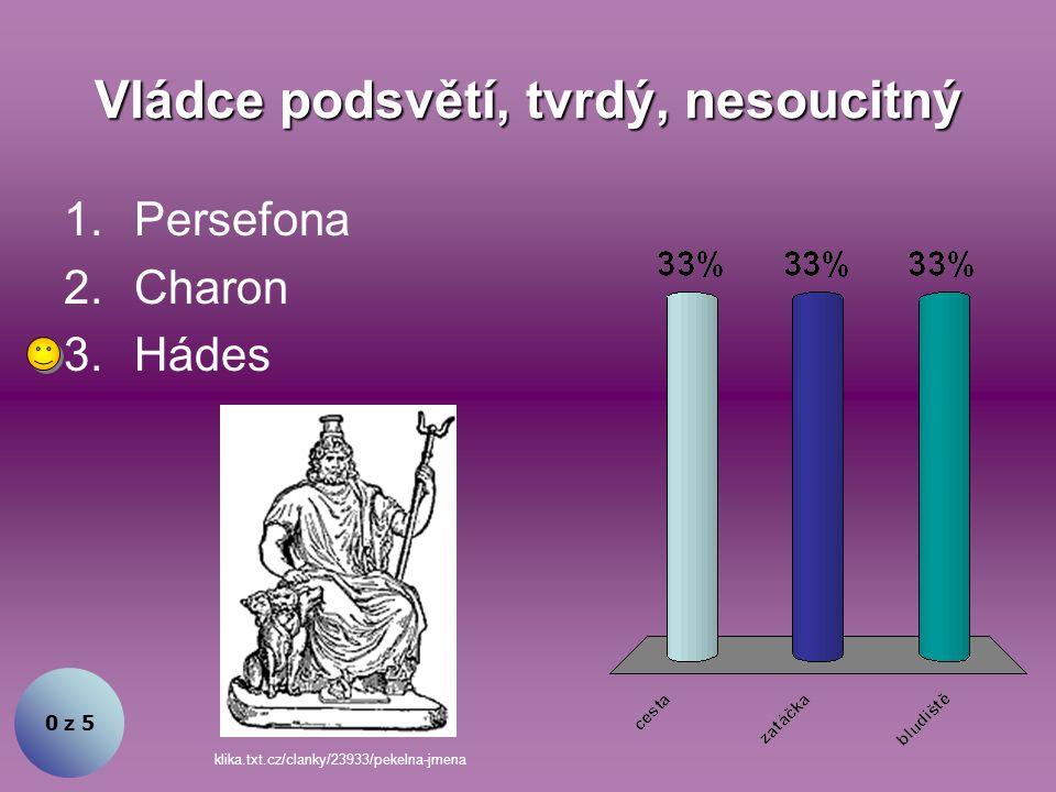 Vládce podsvětí, tvrdý, nesoucitný 0 z 5 1.Persefona 2.Charon 3.Hádes klika.txt.cz/clanky/23933/pekelna-jmena