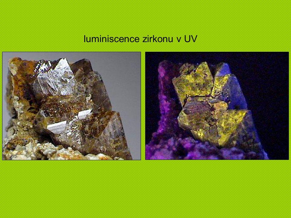 luminiscence zirkonu v UV