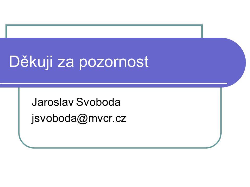 Děkuji za pozornost Jaroslav Svoboda jsvoboda@mvcr.cz