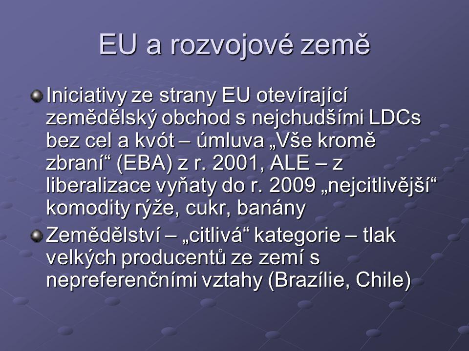 """EU a rozvojové země Iniciativy ze strany EU otevírající zemědělský obchod s nejchudšími LDCs bez cel a kvót – úmluva """"Vše kromě zbraní (EBA) z r."""