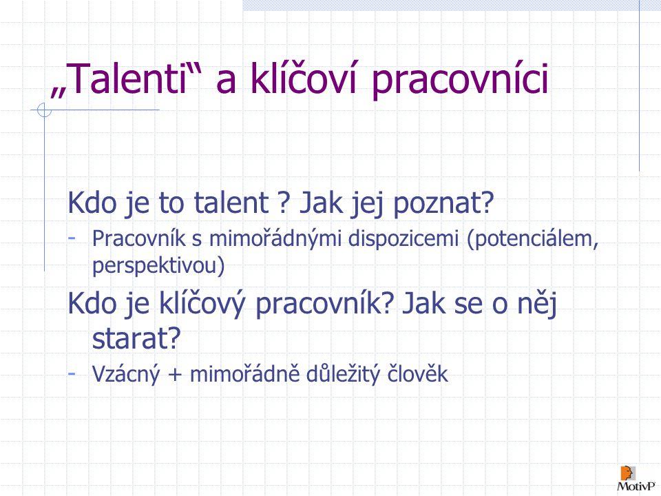"""""""Talenti a klíčoví pracovníci Kdo je to talent .Jak jej poznat."""