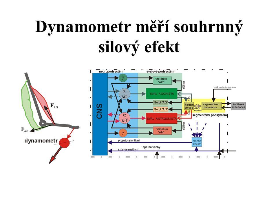 Dynamometr měří souhrnný silový efekt