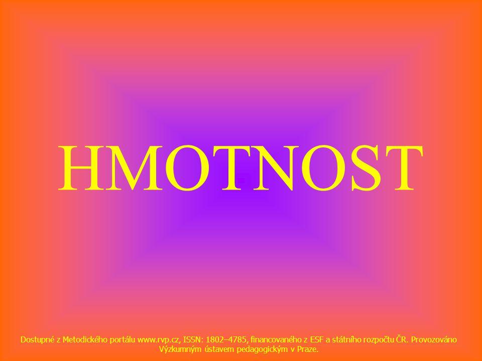HMOTNOST Dostupné z Metodického portálu www.rvp.cz, ISSN: 1802–4785, financovaného z ESF a státního rozpočtu ČR.