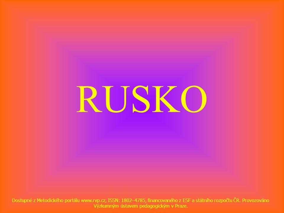 RUSKO Dostupné z Metodického portálu www.rvp.cz, ISSN: 1802–4785, financovaného z ESF a státního rozpočtu ČR.