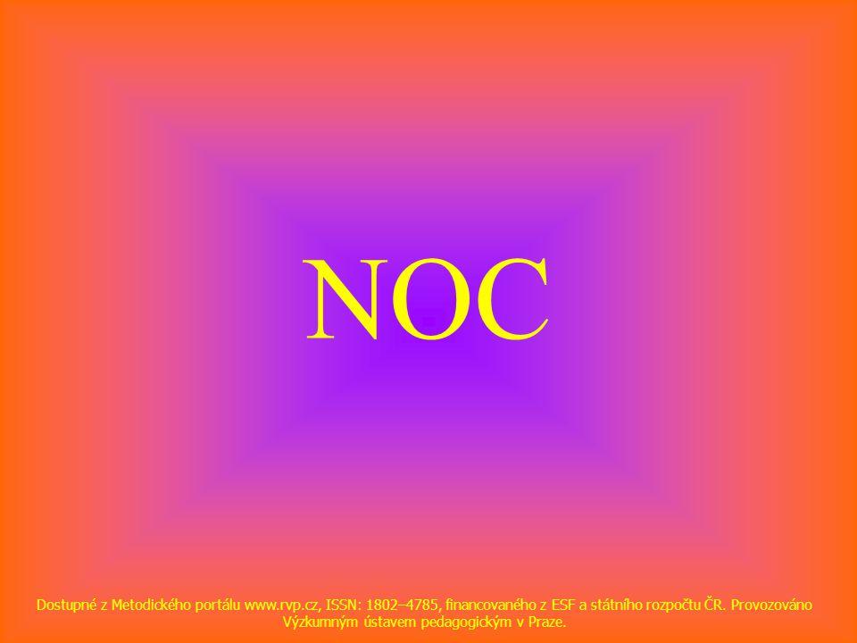 NOC Dostupné z Metodického portálu www.rvp.cz, ISSN: 1802–4785, financovaného z ESF a státního rozpočtu ČR.
