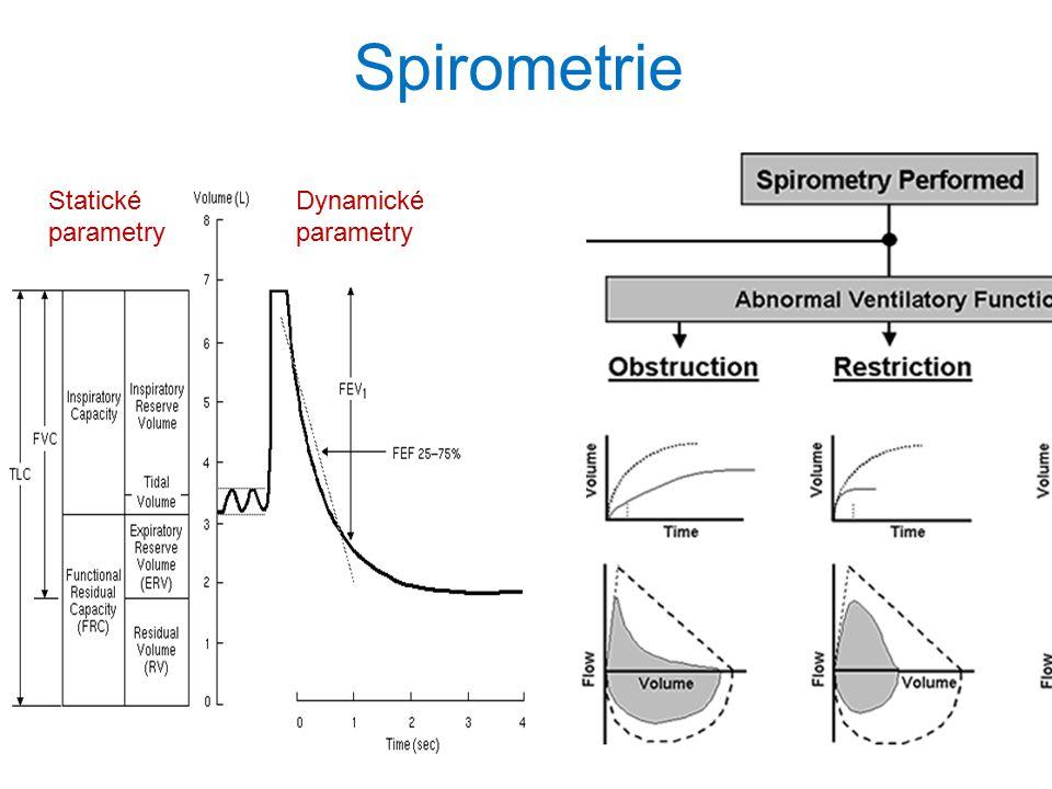 36 Spirometrie Statické parametry Dynamické parametry