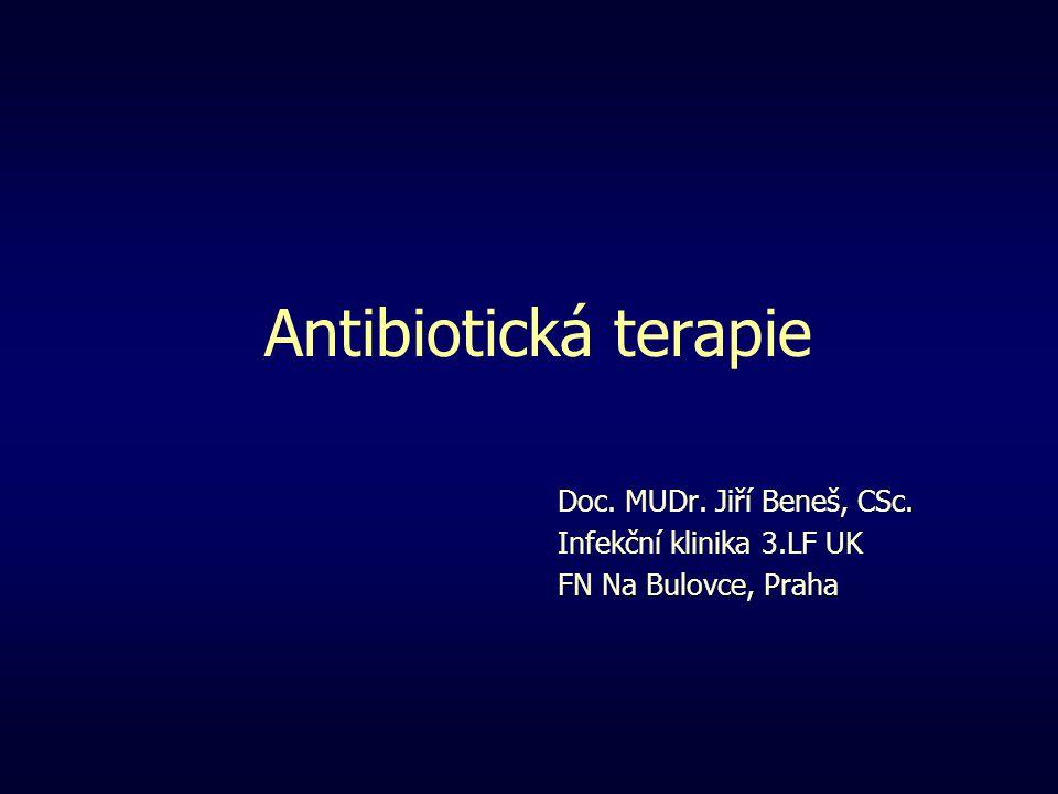 Antibiotická terapie Doc. MUDr. Jiří Beneš, CSc. Infekční klinika 3.LF UK FN Na Bulovce, Praha