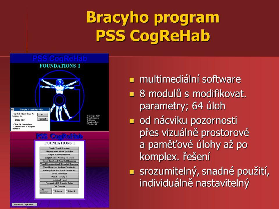Bracyho program PSS CogReHab multimediální software multimediální software 8 modulů s modifikovat.