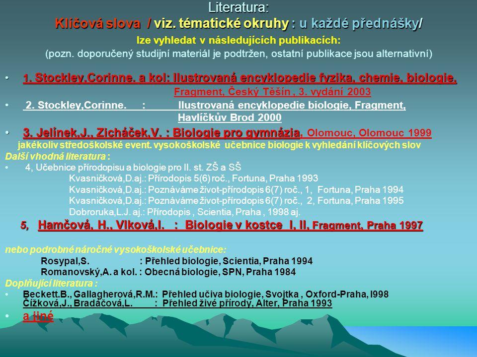 IVZ II - BIOLOGIE : cíle studia ŽIVOT – přehled o teoriích vzniku života (umět vysvětlit vlastní názor) - evoluční teorie Oparin, Darvwn, Haeckel, neo