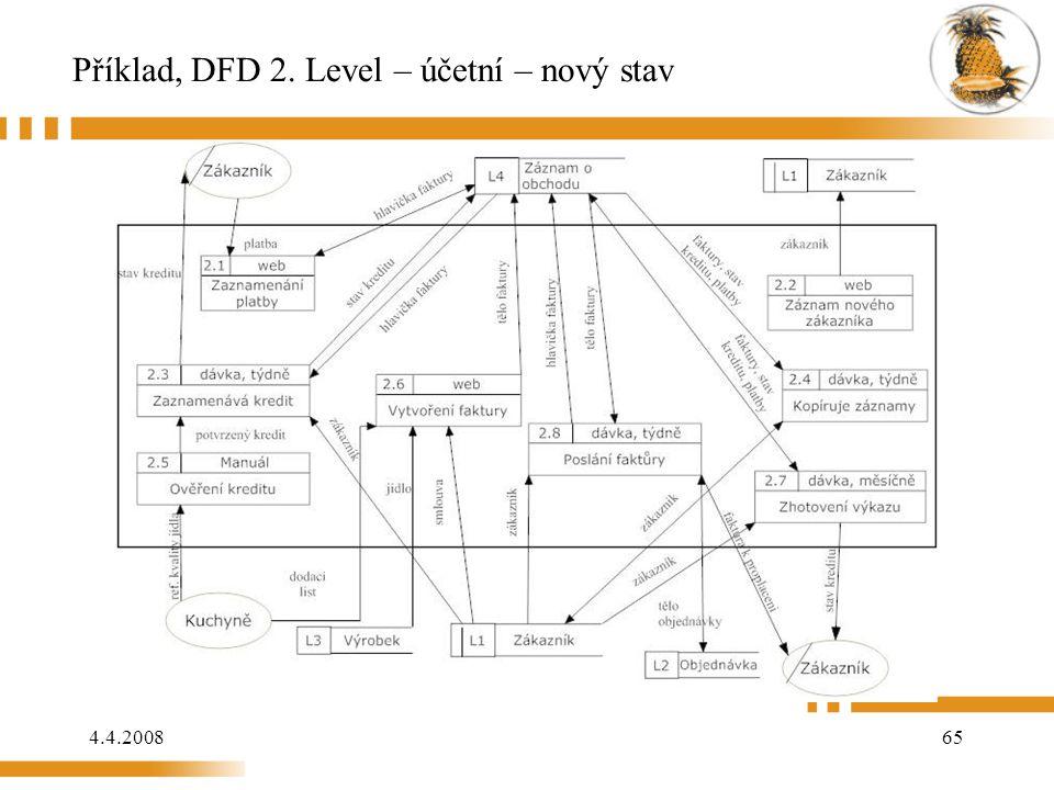 4.4.200865 Příklad, DFD 2. Level – účetní – nový stav