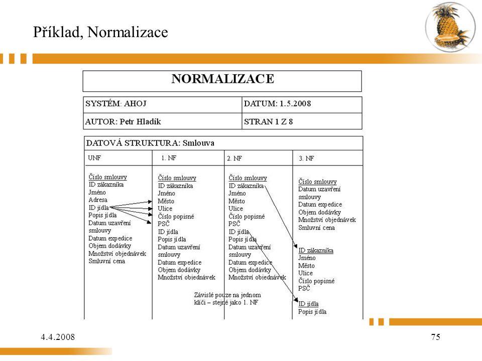 4.4.200875 Příklad, Normalizace