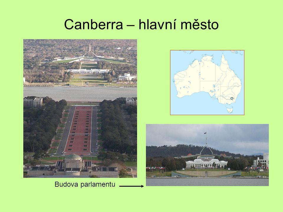 Canberra – hlavní město Budova parlamentu