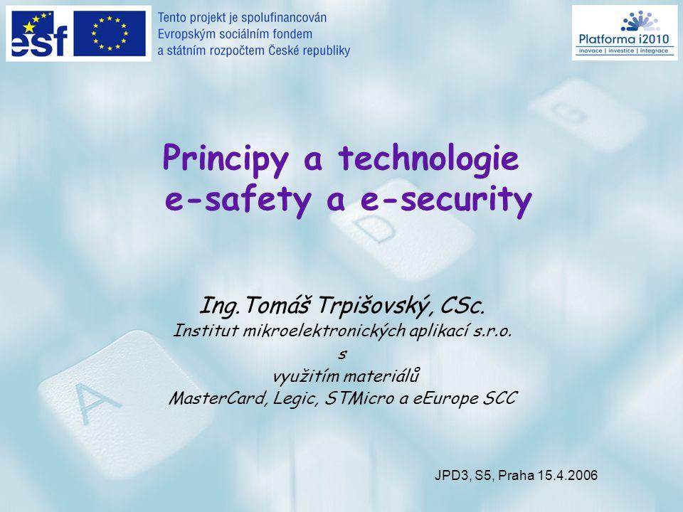 Principy a technologie e-safety a e-security Ing.Tomáš Trpišovský, CSc.