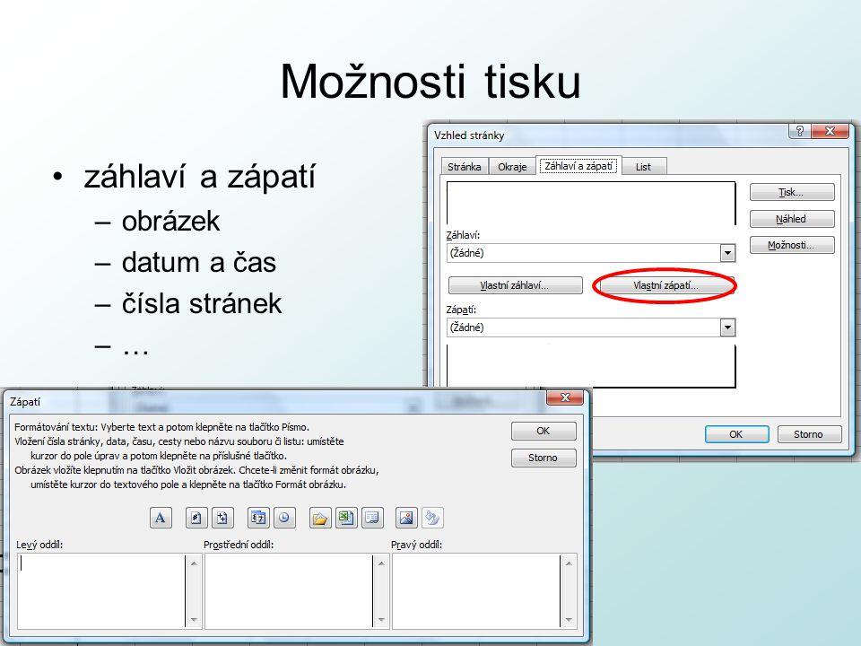 http://pcu3v.fjfi.cvut.cz Možnosti tisku List –oblast tisku –tisk mřížky –tisk komentářů –pořadí tisku