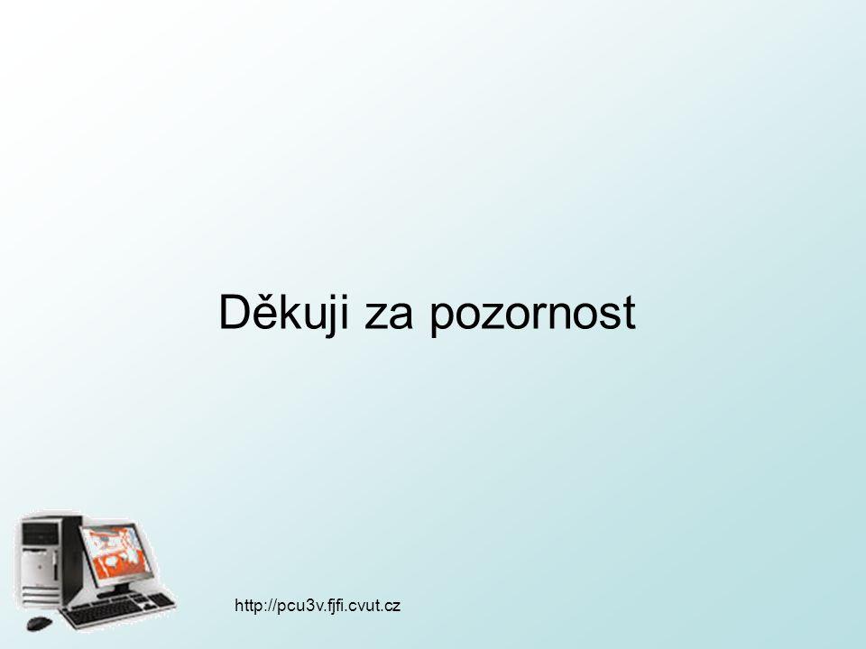 http://pcu3v.fjfi.cvut.cz Děkuji za pozornost