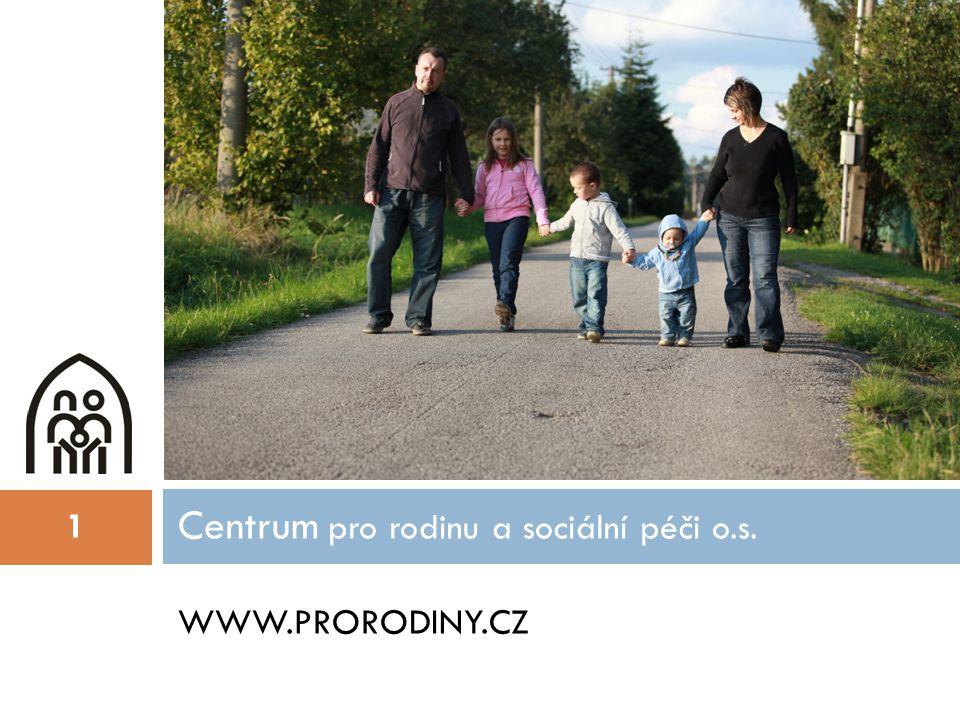 WWW.PRORODINY.CZ Centrum pro rodinu a sociální péči o.s. 1