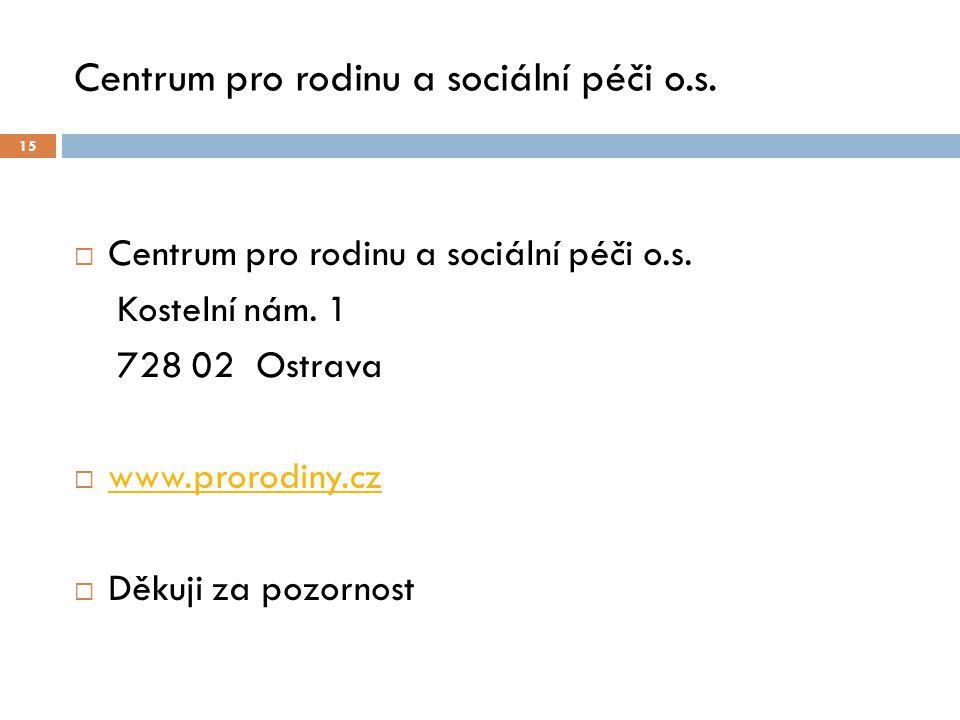 Centrum pro rodinu a sociální péči o.s. 15  Centrum pro rodinu a sociální péči o.s.