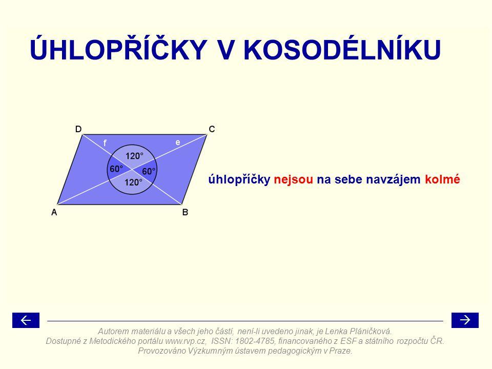 VÝŠKY V KOSODÉLNÍKU kosodélník má dvě výšky v a  v b Autorem materiálu a všech jeho částí, není-li uvedeno jinak, je Lenka Pláničková.