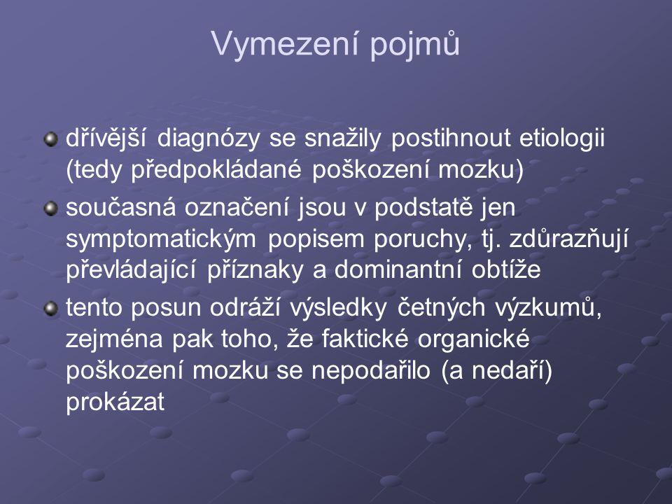 Příčiny hyperaktivního chování dle Prekopové, Schweitzerové (1994) 1.