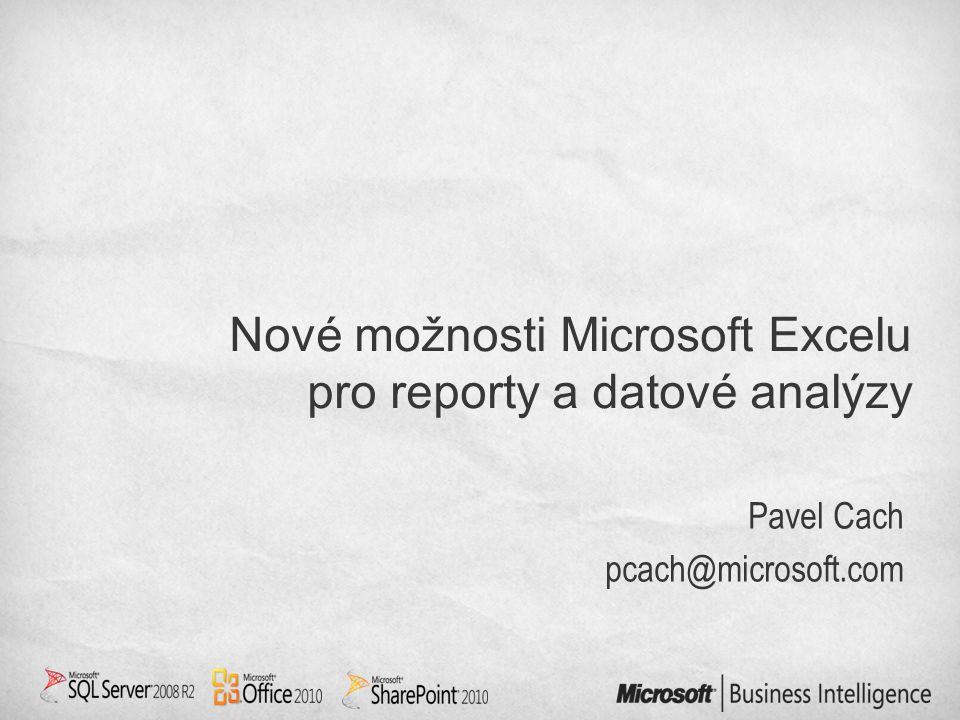 Pavel Cach pcach@microsoft.com