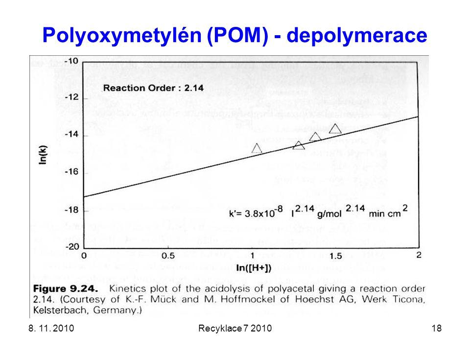 Polyoxymetylén (POM) - depolymerace 8. 11. 2010Recyklace 7 201018