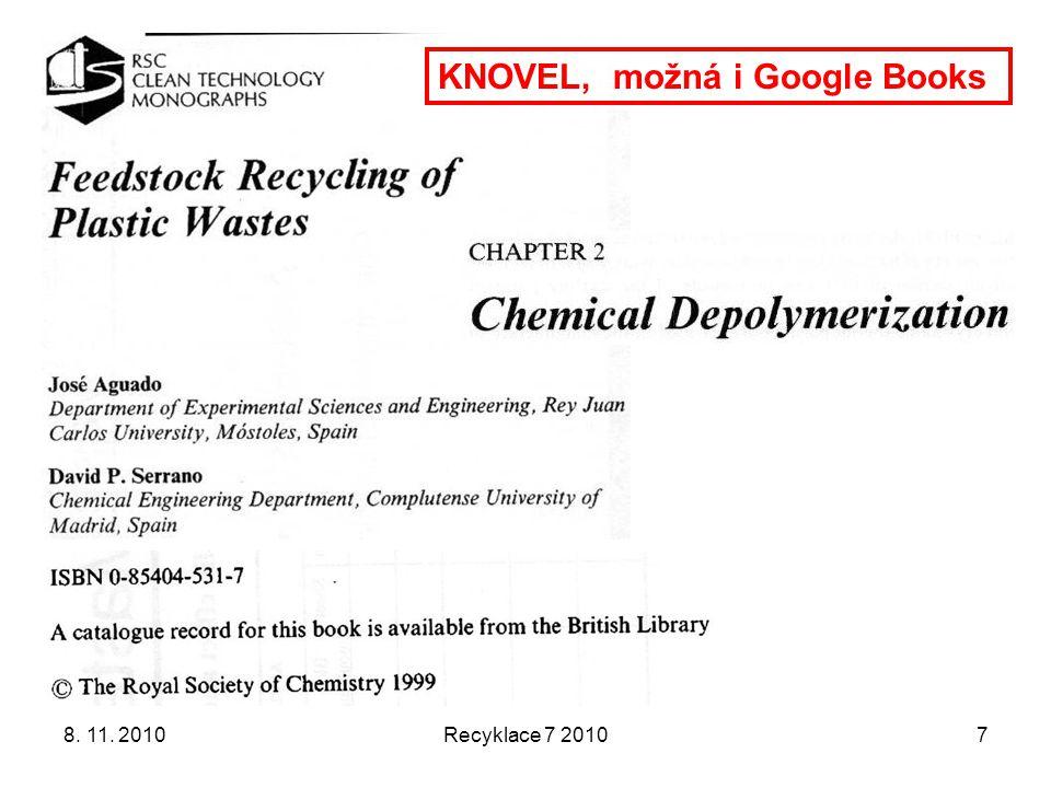 Něco aktuálního k chemické recyklaci PUR V rámci programu TAČR (technologická agentura České republiky) podala jedna lokální universita projekt na chemickou recyklaci PUR.