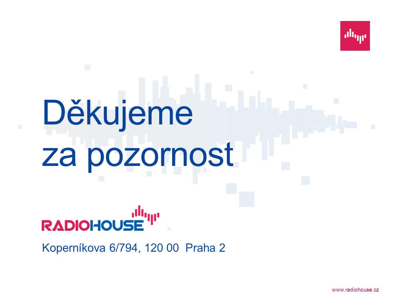 www.radiohouse.cz Děkujeme za pozornost Koperníkova 6/794, 120 00 Praha 2
