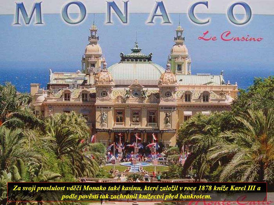 Monako, nezávislé knížectví. Z jeho výšin jsou nádherné výhledy na Středozemní moře.