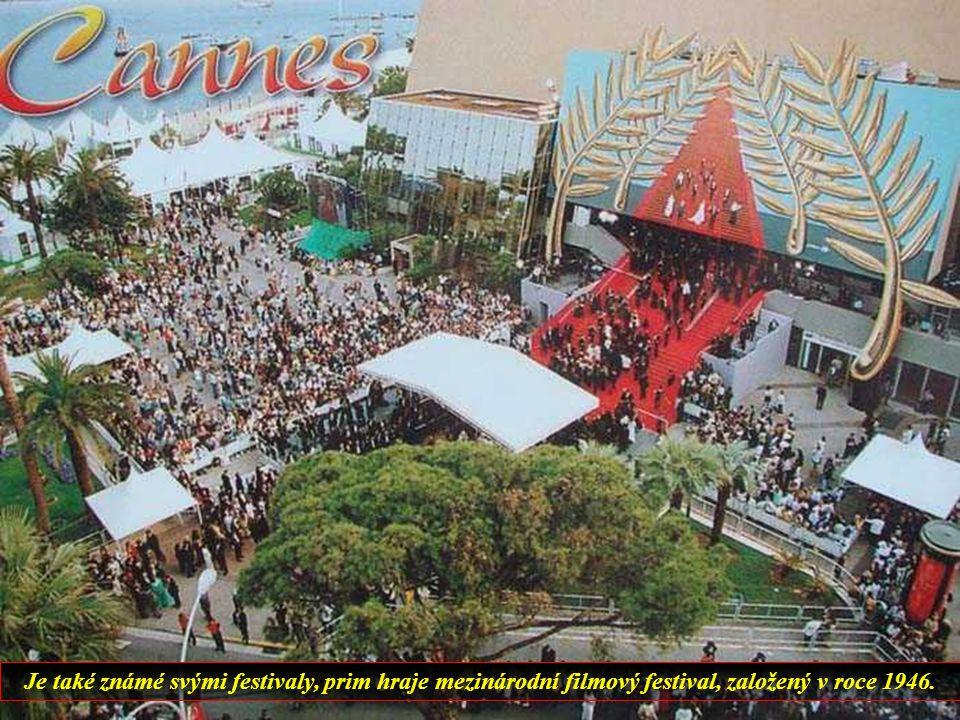 Cannes je pobřežní město s krásnými plážemi a příjemným klimatem, ale v létě zcela přeplněné turisty.