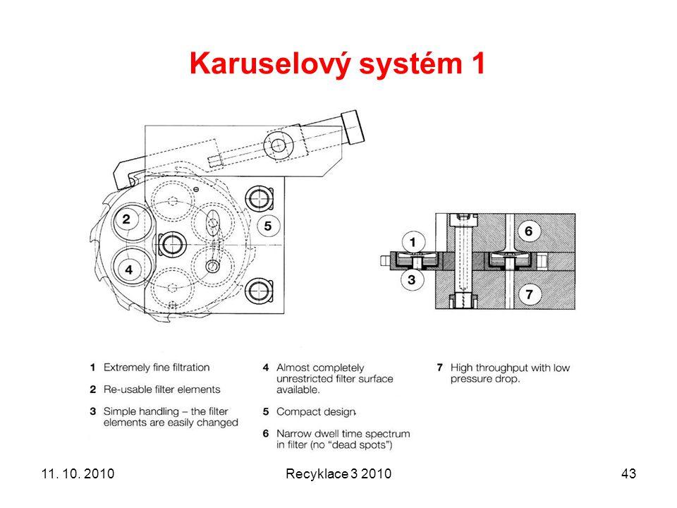 Karuselový systém 1 Recyklace 3 20104311. 10. 2010