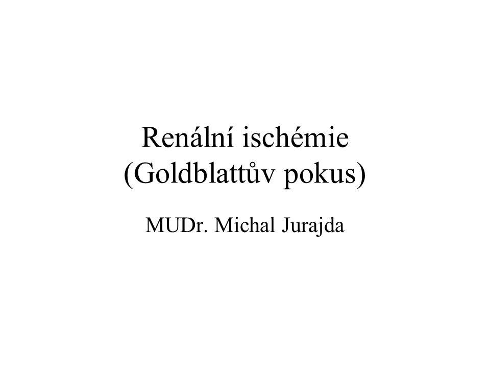 Renální ischémie (Goldblattův pokus) MUDr. Michal Jurajda