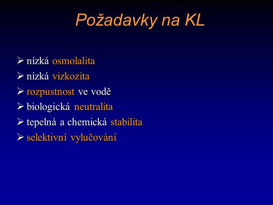 Negativní vlastnosti KL  chemotoxicita  osmotoxicita  nefrotoxicita  neurotoxicita  kardiotoxicita  pseudoalergická reakce