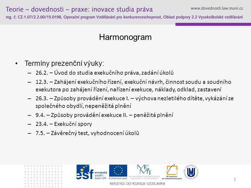 Doporučená literatura Winterová, A.a kol. Civilní právo procesní.