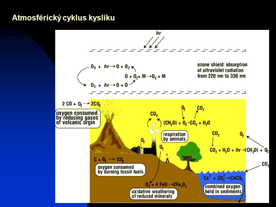 Josef Zeman7 Atmosférický cyklus kyslíku