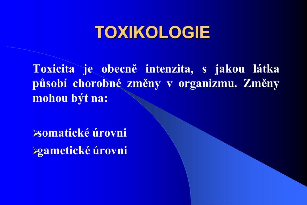 TOXIKOLOGIE Toxicita je obecně intenzita, s jakou látka působí chorobné změny v organizmu.