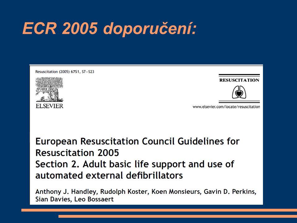 ECR 2005 doporučení: