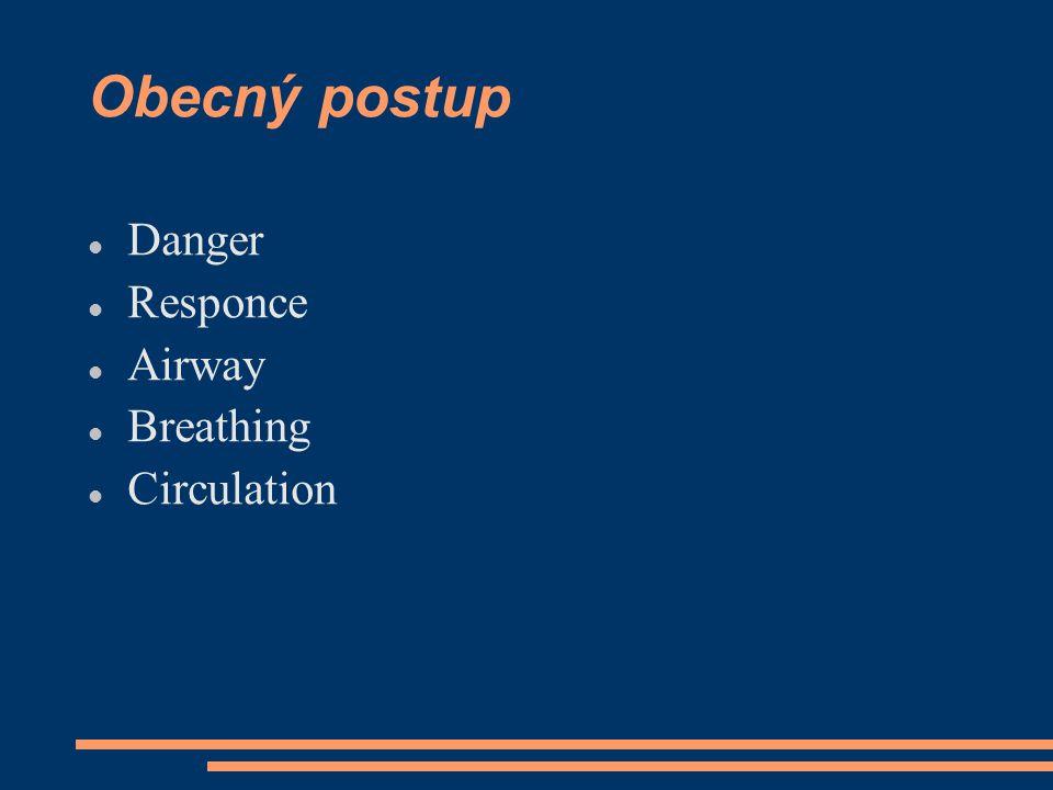 Heimlichův hmat KI: ne u těhotných, do 2let komplikace: poranění jater, žaludku, střeva = = bolest břicha, krvácení, šok Po úspěšném provedení, nutné lékařské vyšetření