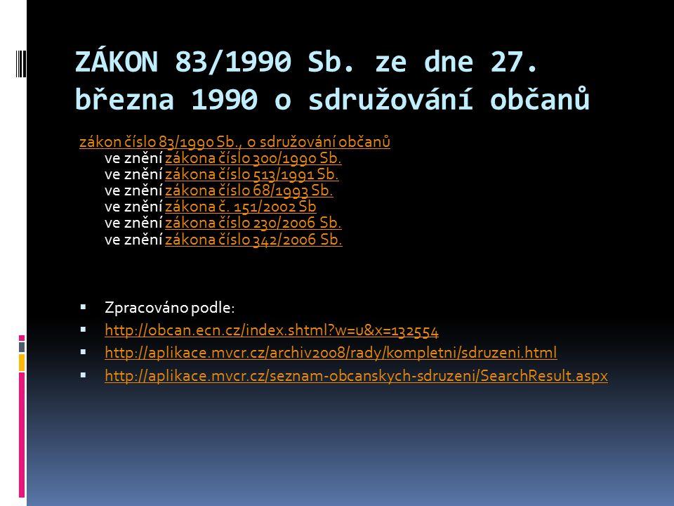 ZÁKON 83/1990 Sb.ze dne 27.