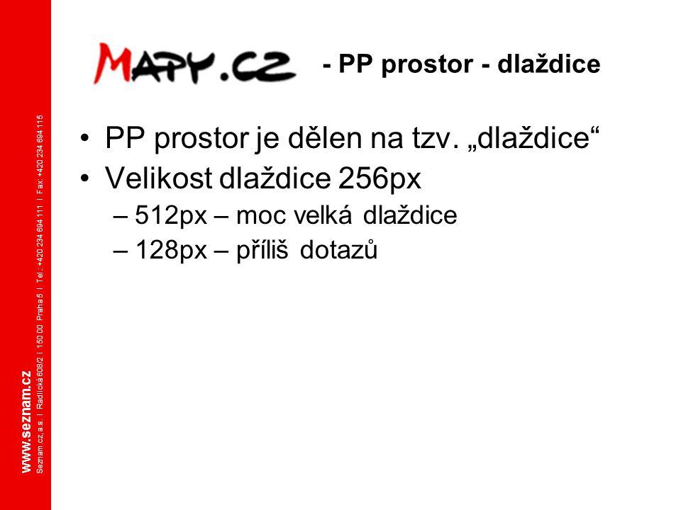 www.seznam.cz Seznam.cz, a.s. I Radlická 608/2 I 150 00 Praha 5 I Tel.: +420 234 694 111 I Fax: +420 234 694 115 - PP prostor - dlaždice PP prostor je