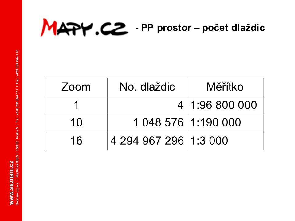 www.seznam.cz Seznam.cz, a.s. I Radlická 608/2 I 150 00 Praha 5 I Tel.: +420 234 694 111 I Fax: +420 234 694 115 - PP prostor – počet dlaždic ZoomNo.