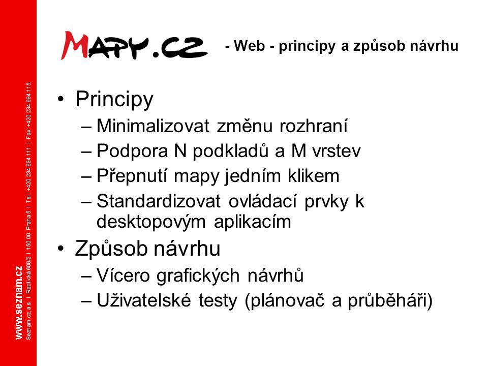 www.seznam.cz Seznam.cz, a.s. I Radlická 608/2 I 150 00 Praha 5 I Tel.: +420 234 694 111 I Fax: +420 234 694 115 Principy –Minimalizovat změnu rozhran