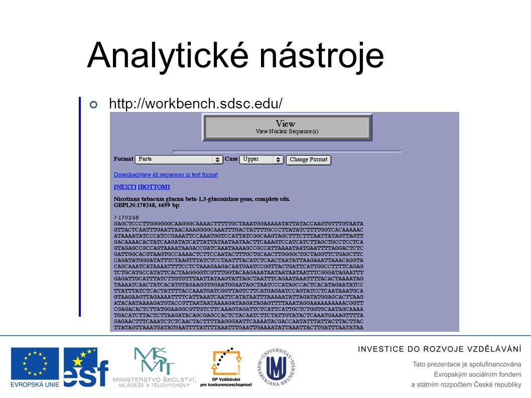 http://workbench.sdsc.edu/ Analytické nástroje
