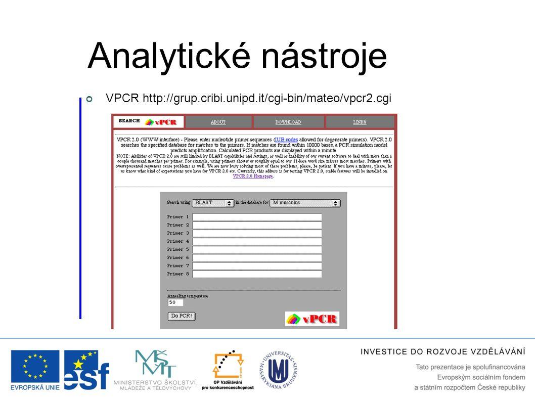 VPCR http://grup.cribi.unipd.it/cgi-bin/mateo/vpcr2.cgi