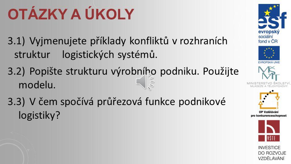 STUDIJNÍ MATERIÁLY: Základní literatura: JEŘÁBEK, K. Doprava, manipulace, skladování – logistika. In: Stavební informace. 2004, XI, 28. publikace, s.