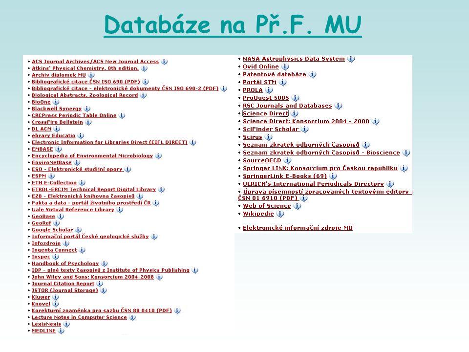 Databáze na Př.F. MU