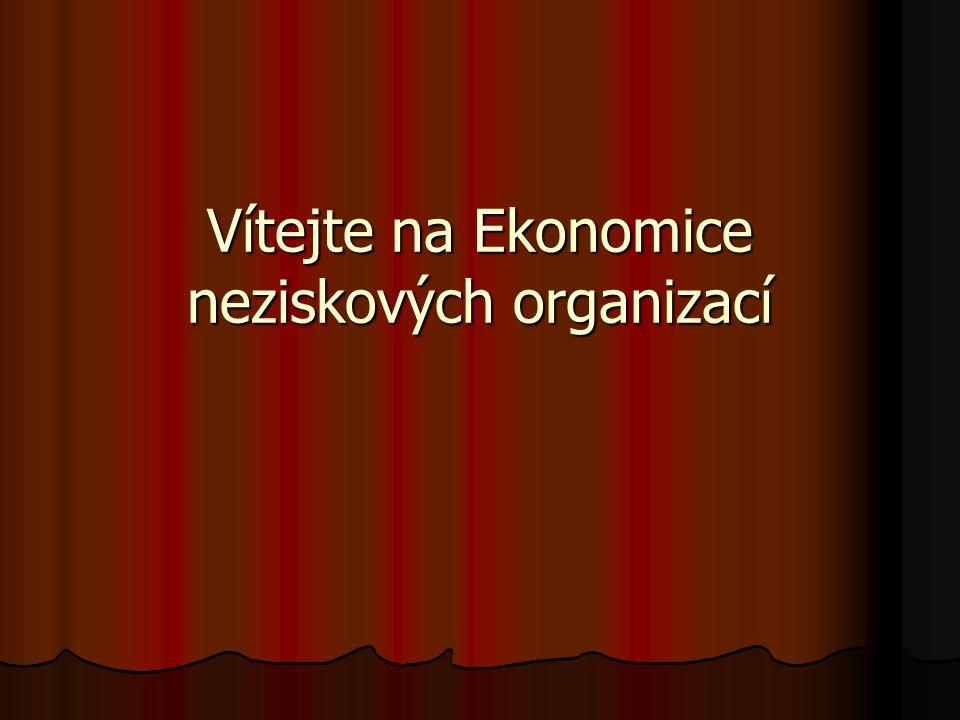 Vítejte na Ekonomice neziskových organizací