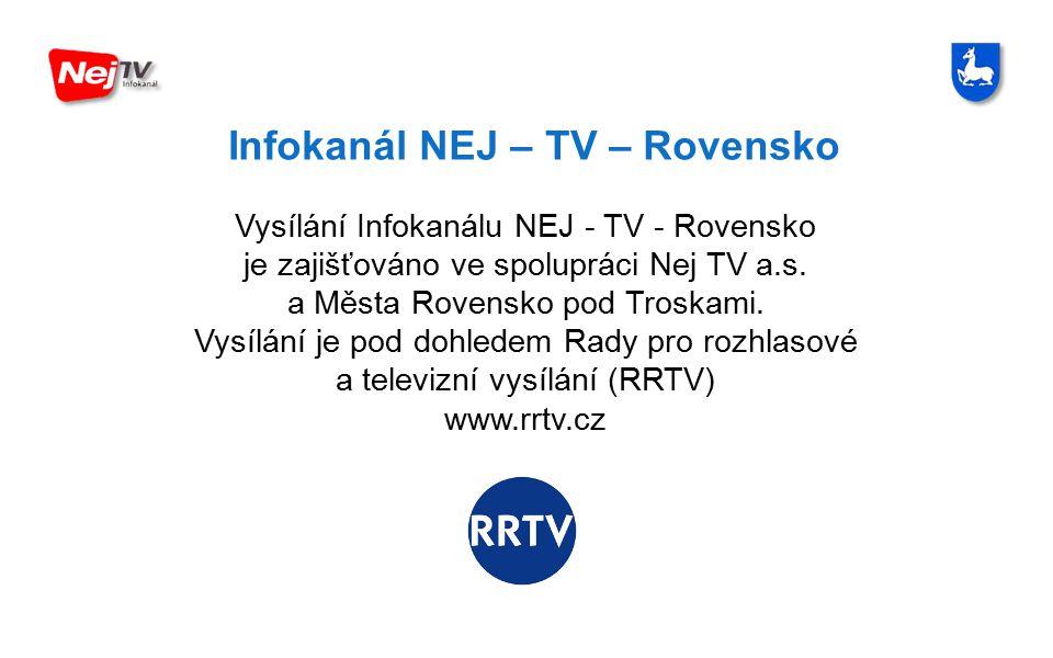 Infokanál NEJ – TV – Rovensko Město Rovensko pod Troskami, se sídlem Náměstí prof.