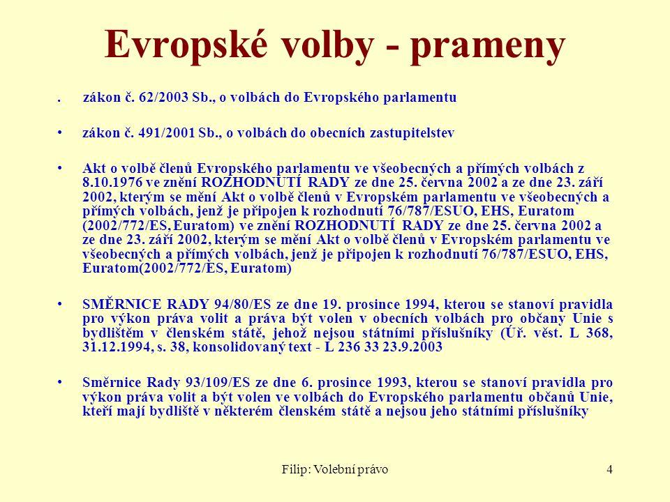 Filip: Volební právo5 Programové prohlášení vlády 12-8-2010 1.