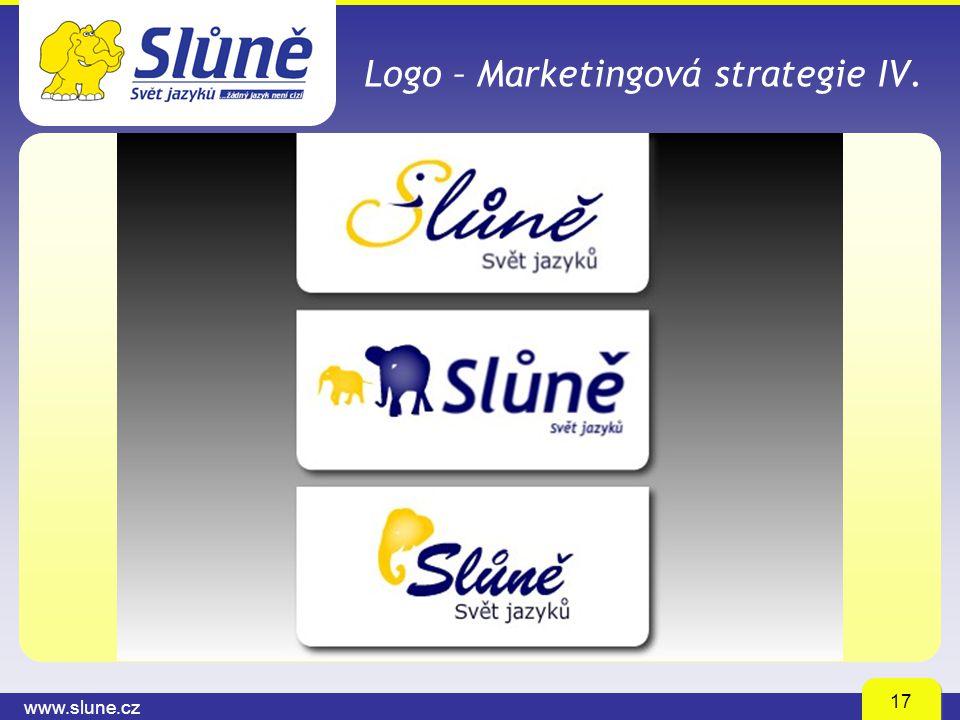 www.slune.cz 17 Logo – Marketingová strategie IV.